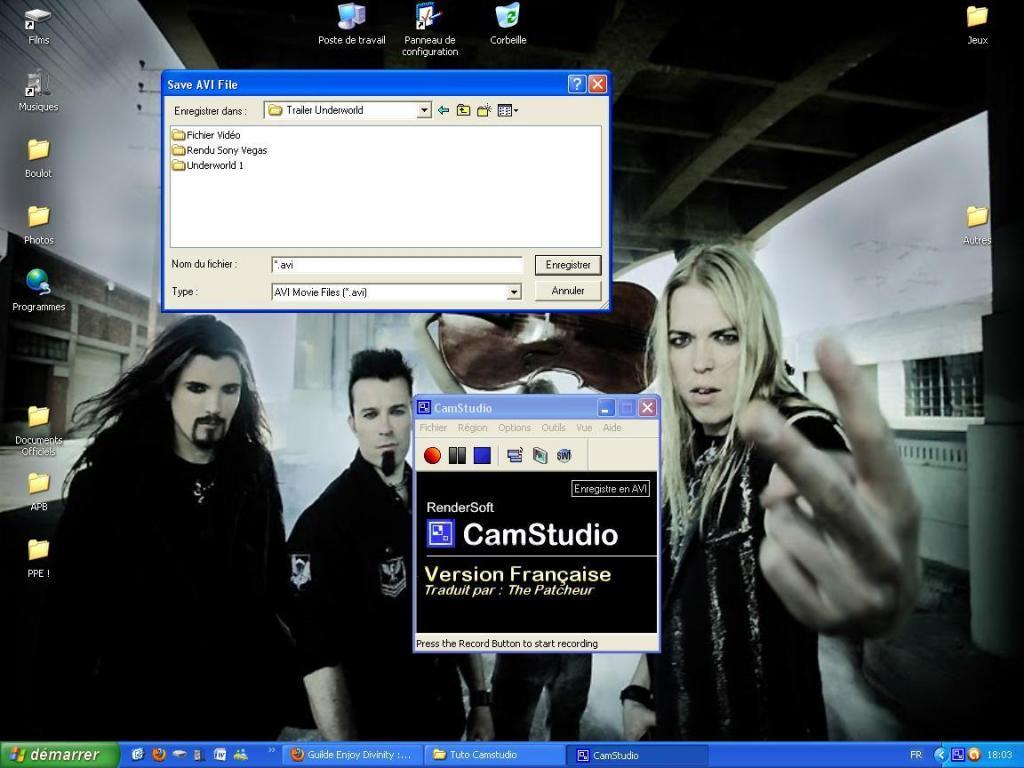 Utilisation de Camstudio Enregistrement-27ed7fd